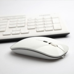 Ultra-thin new 2.4g office mouse wireless mute rechargeable mouse notebook home mouse white wireless