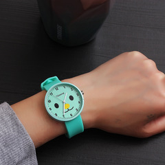 Fashion trend candy harajuku retro style simple male watch female students couples watches gifts green one size