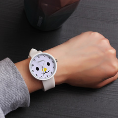 Fashion trend candy harajuku retro style simple male watch female students couples watches gifts white one size