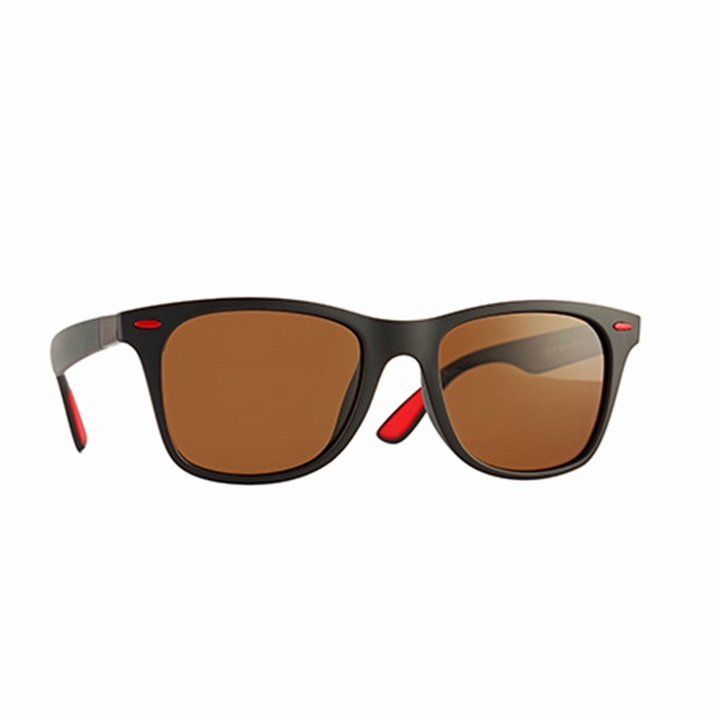 BRAND DESIGN Classic Polarized Sunglasses Men Women Driving Square Frame Sun Glasses Male Goggle C06 one size