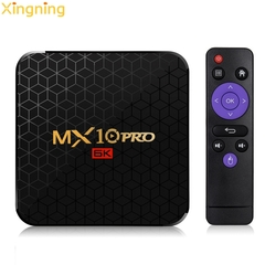 2019 MX10 PRO 4G+64GB+128GB Allwinner H6 Smart TV Box Set top Box UHD 6K 4K H265 USB3.0 Media Play