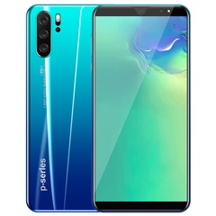 2019 P33 4g+64g+128G Memory card mobile phone 5.8inch  Face/Fingerprint 4G GPS dual SIM 8MP+16MP blue