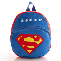 DORA 3D cute Cartoon Design backpack 1-4Y baby bags girls boys cute zoo school bags kindergarten bag Superman