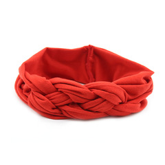 Euro-American Children's Cotton Hair Ribbon Girl Baby Cross Hair Ornament Pure Peaceful Knot Band red 20-6cm