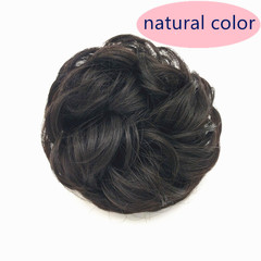 Wig Rings Simple Easy  Wear Hair Bud Curly Hair Pack Dumb High Temperature Silk Rubber Ribbon Hair NATURAL COLOR ONE SIZE