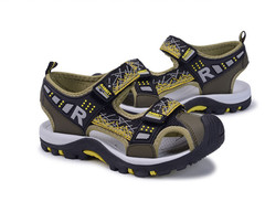 Boys' summer sandals with soft soles and children's non-slip sandals yellow 25