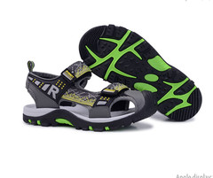 Boys' summer sandals with soft soles and children's non-slip sandals gray 32