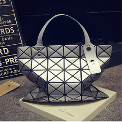 2019 Hot Sale Diamond Handbag Women Casual Tote Bag Female High Quality PU Leather Handbag silver one size