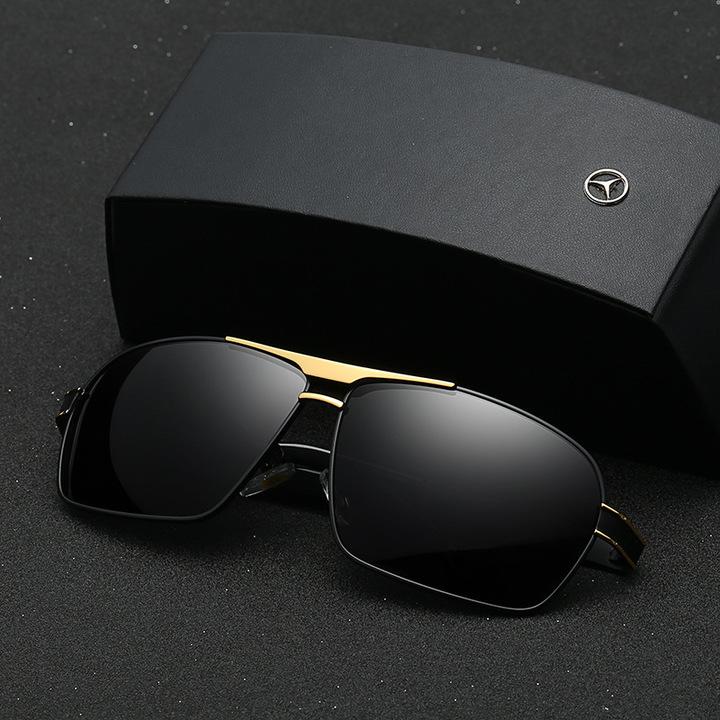 2019 Mercedes-Benz Fashion Car Polarized Sunglasses Driving Sunglasses Unisex Sunglasses 722 Black-gold/grey mirror one size
