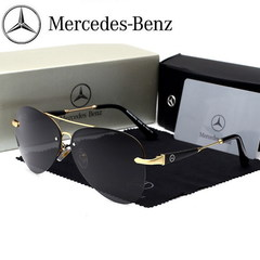 2019 Mercedes-Benz Fashion Car Polarized Sunglasses Driving Sunglasses Unisex Sunglasses 743 Golden frame one size