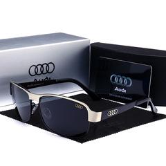 2019 Audi Fashion Car Polarized Sunglasses Driving Sunglasses Unisex Sunglasses 554 black-black one size