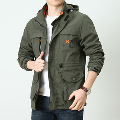 Men Military Army jackets Appliques Embroidery Mens Jacket Cotton Casual Men Coats ArmyGreen 2XL