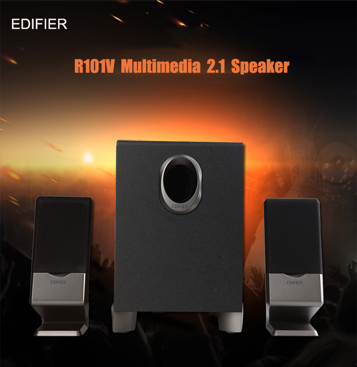 EDIFIER Big Decibel Treble Home Theater Sound System Multimedia Speaker Subwoofer R101V black 220V R101