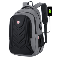 Anti theft Men Laptop Backpacks Waterproof USB Charging Backpack Business Travel Bag  8012 gray one size