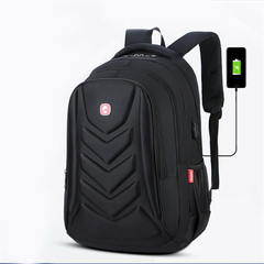 Anti theft Men Laptop Backpacks Waterproof USB Charging Backpack Business Travel Bag  8012 black one size