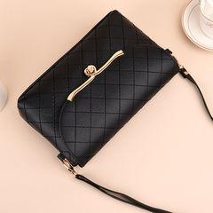 2019 new fashion women's bag diagonal cross bag shoulder bag wild leather texture black one size