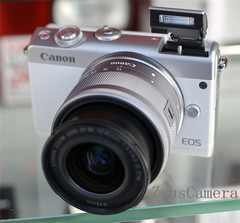 Refurbished Canon EOS M100 DSLR Camera with 18-55 and 25-18 mm Lens Household Package 99% New