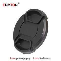 49 52 55 58 62 67 72 77 82 mm Center Pinch Snap-on Front Lens Cap for camera Lens Filters with Strap 49mm mm