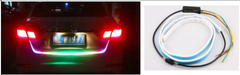 3020 Ice Blue & Red LED Tail Boxlamp