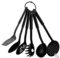 Heat-Resistant Nonstick Spoon Spatula Turner Scoop Kitchen Cooking spoons Black 6 Pieces