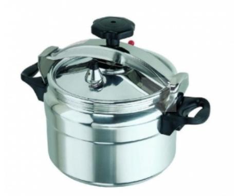 Non-explosive Pressure Cooker - Silver and Black 9 liters Silver & Black 9Ltrs