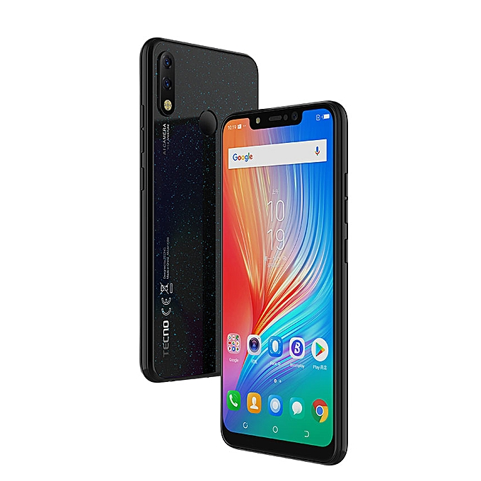 """TECNO Spark 3 Pro, 6.2"""", 32GB + 2GB (Dual SIM) - Black"""
