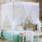 MOSQUITO NET WITH METALLIC STAND - White 5*6