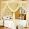 MOSQUITO NET WITH METALLIC STAND - Cream 6*6