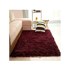 Fluffy Soft and Tender Carpet-Maroon Maroon 7*8