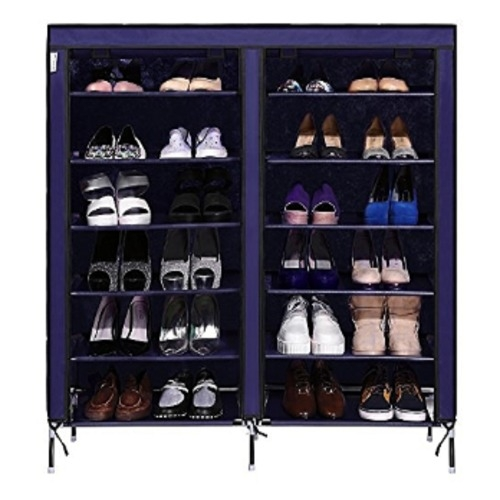 3 Columns Portable Wardrobe - Blue Blue