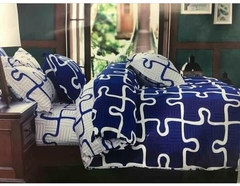 4 Pcs of Duvet Set ( 1 Duvet, 2 Pillow cases and 1 Bed-sheet ) multicoloured 4*6