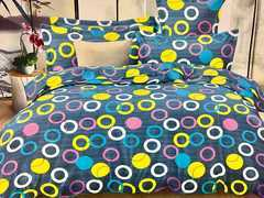 4 Pcs of Duvet Set ( 1 Duvet, 2 Pillow cases and 1 Bed-sheet ) multicoloured 4*6