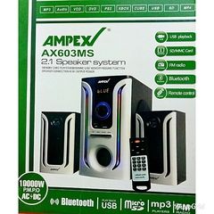 Ampex AX603MS 2.1 SubWoofer Speaker/System 10000W PMPO, AC/DC, Bluetooth/FM/USB black
