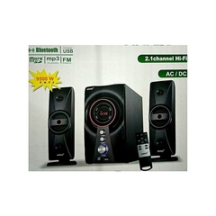 Ampex  AX803MS 2.1 SubWoofer Speaker System 9800W PMPO/AC/DC/ Bluetooth/FM/USB black