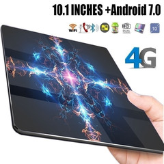 ATRAENTE High Quality Ultra-thin 10.1 Inch Octa Core 4G+64G Android 7.0 WiFi Tablet PC Dual SIM Dual Black