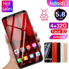 2019 New HD Big-screen SmartPhone Android Os 5.1 MTK6580 Octa Core Support Dual Card black 5.8
