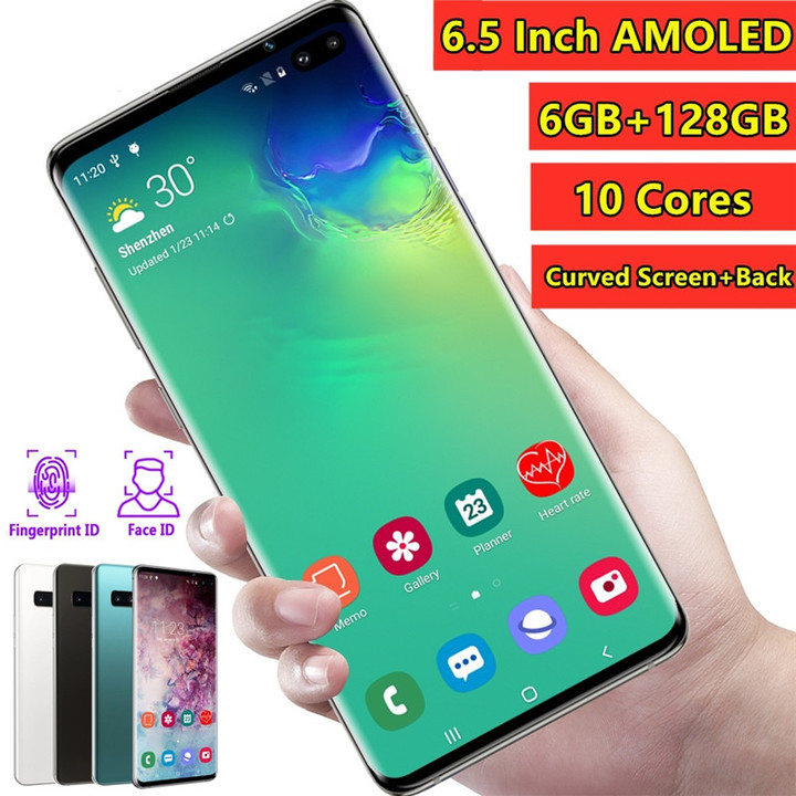 2019 Latest Generation 6.5 Inch 4G LTE Smartphone Global Version Mobile Phone white