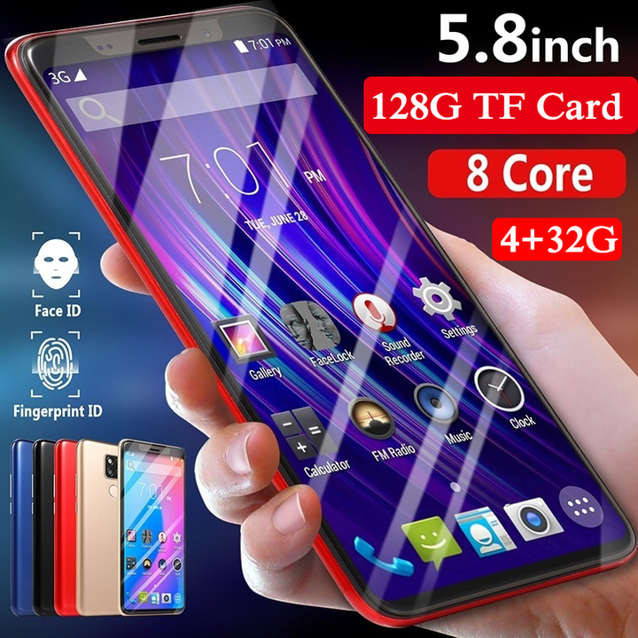 2019 New M20pro mobile phone 5.0/5.8inch 8 core running 4+32GB large memory support dual card black 5.8'