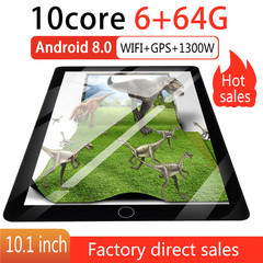 New WiFi Tablet 2560*1600 IPS Screen 10 Inch Ten Core 4G Network Android 8.0 PC Dual SIM silver normal