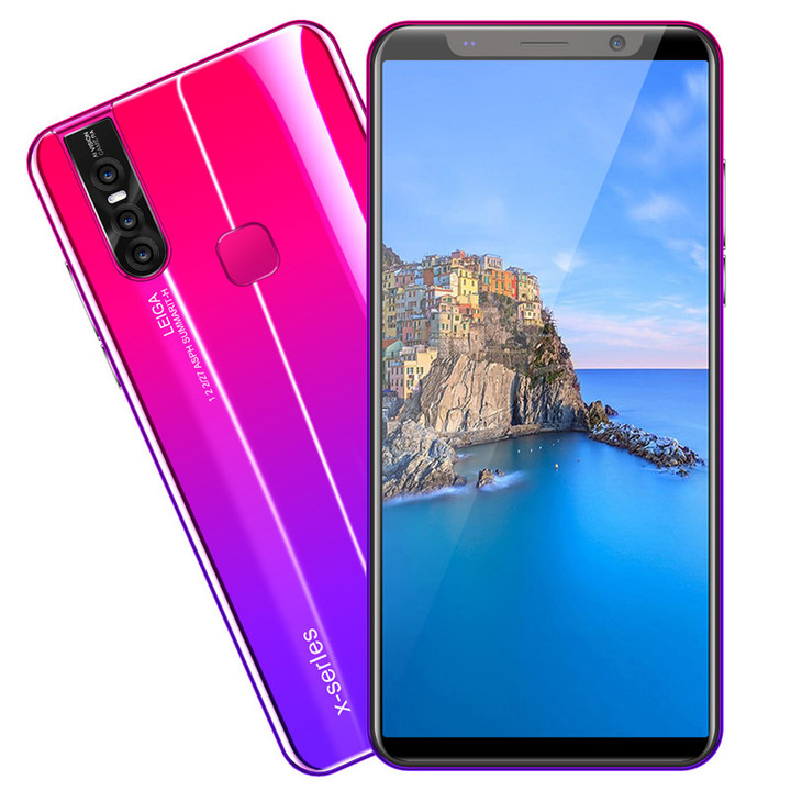 ATRAENTE Android 9.1 Smart phone 6.0 inches Large memory 6GB+128GB fingerprint unlock blue 5.1'