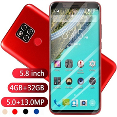 ATRAENTE 2019 hot mobile phone 4GB RAM + 32GB ROM 5.8 inch large screen mobile phone dual card 5.1' blue 5.1'