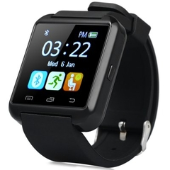 U8S Bluetooth Smart Watch for Android phones E.g. Infinix Sony Xiaomi Cubot Huawei Iphone Black
