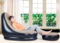 waterproof Fashion economical soft Inflatable sofa chair, rest chair, air pump package black and khaki with foot pump