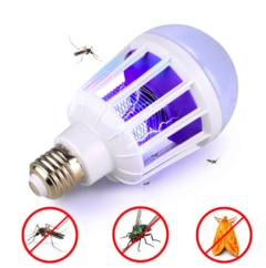 upgraded 2 in 1 12w/15w LED Bulb Mosquito Killer Lamp 220V Electric Trap Mosquito fly Killer white 16.5cm 12w