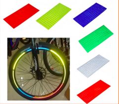Bicycle reflector Fluorescent Sticker Wheel Rim Reflective Stickers red nil