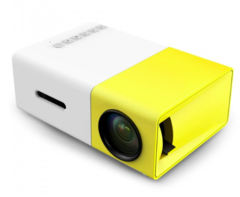 YG-300 Mini HD LCD Projector 400-600LM 320x240 high quality Portable Home mobile Theater yellow 126.4*85.8*47.7 mm AU PLUG