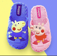 Boys and Girls Cartoon Slippers in Spring and Summer of 2019 rose red 30