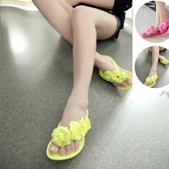 2019 Summer Camellia Design Herringbone Sandals Pink 41