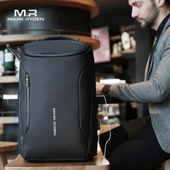 Mark Ryden Anti-thief Men Backpack Waterproof 15.6 inch Laptop Bag Man USB Charging Travel Bag black one size
