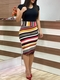 Women Floral Print Bodycon Dresses Short Sleeve Slim Sexy Bodycon Dresses m colorful stripe